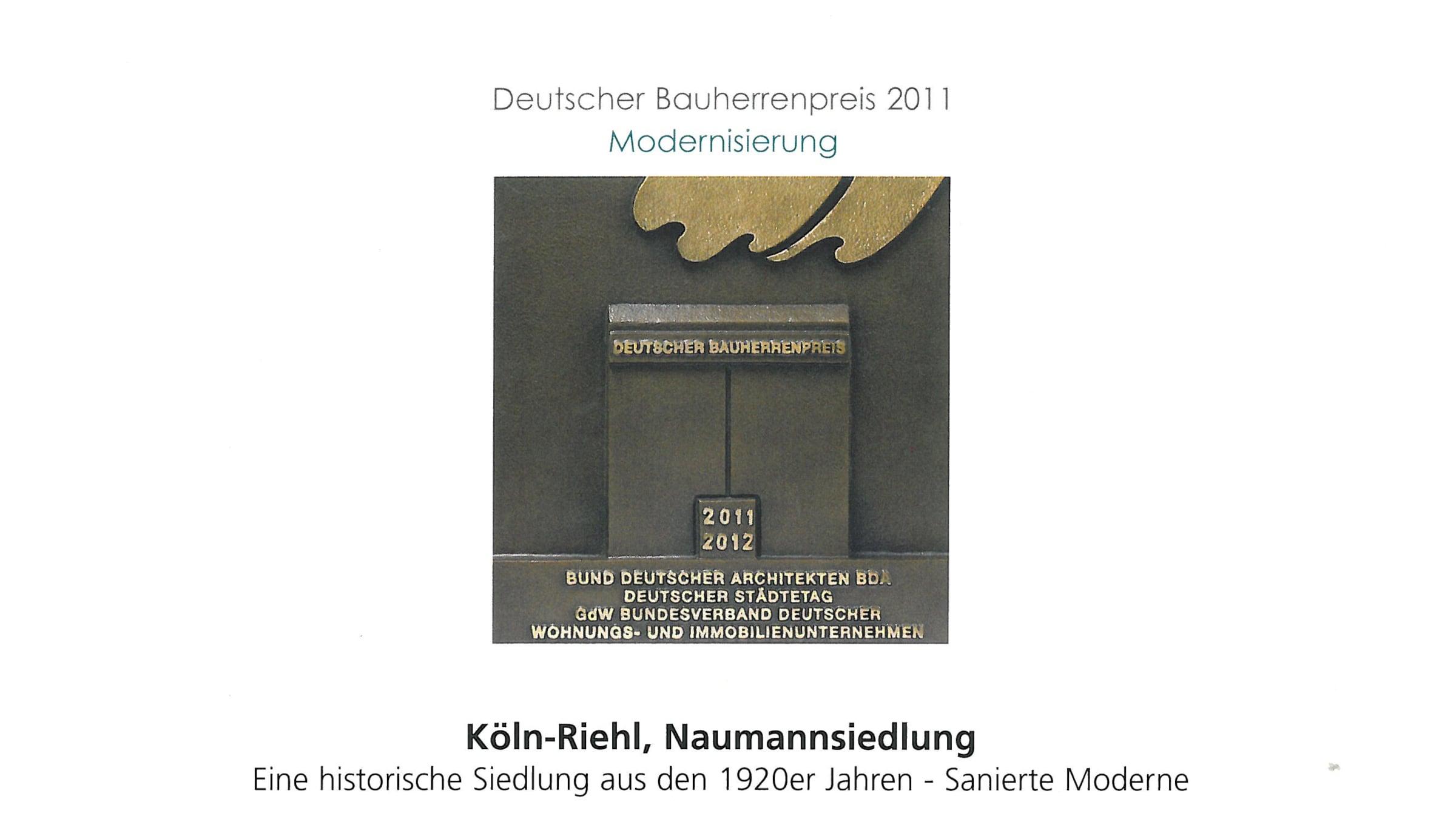 Architekt Koeln Auszeichnung Bauherrenpreis