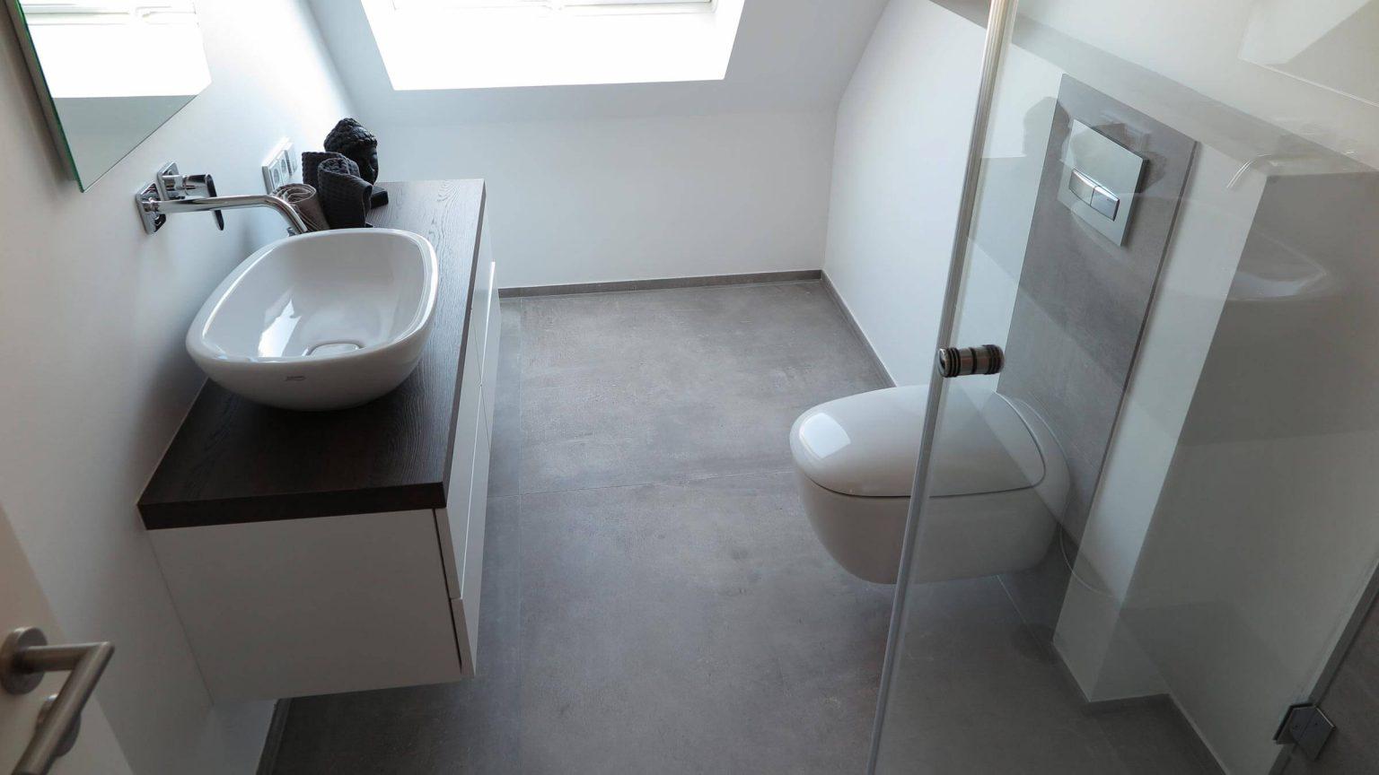 Architekt Koeln Gaestebad Schreiner Waschtisch