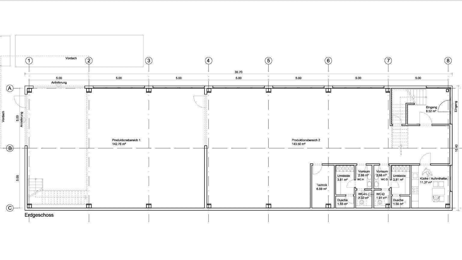 Architekt Koeln Industriebau Produktionshalle