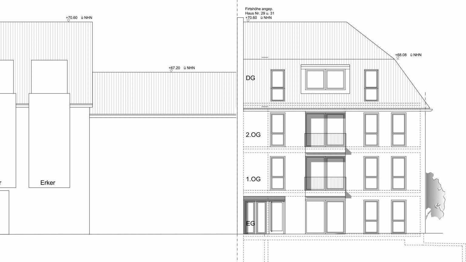 Architekt Koeln Wohnungsbau Eckhaus
